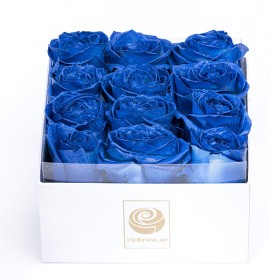 BUDAPEST- Graceful Royal Blue Roses in a Box