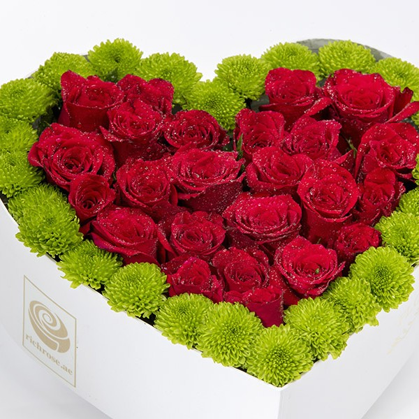 DUBLIN- Heart Shape Roses in a Box