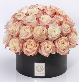 VEDUZ- Luxury Peach Roses Box