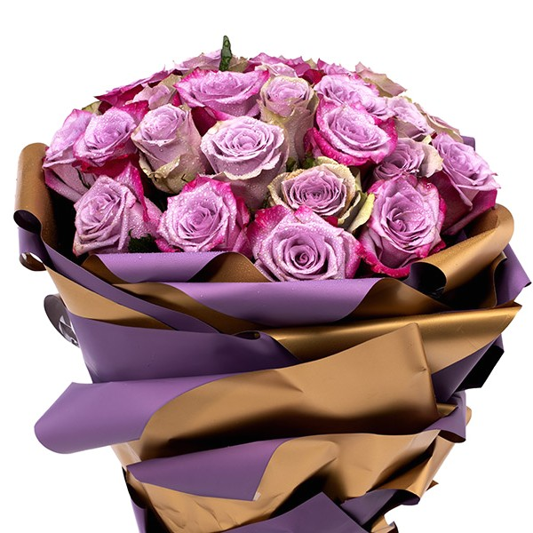 PORT LOUIS- Baby Purple Roses Flower Bouquets