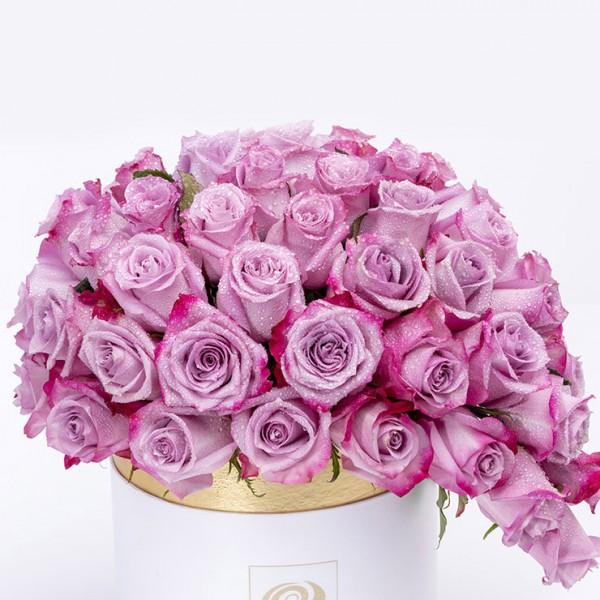 ABUJA- Elegant Purple Roses Flower in a Box