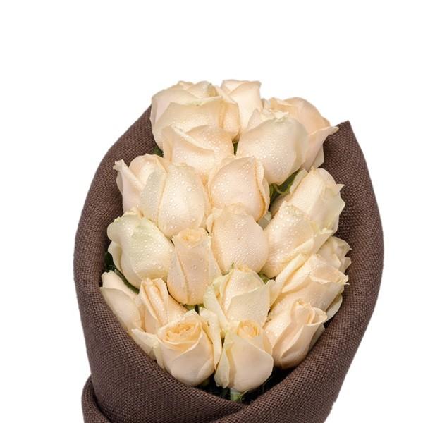 OSLO- Cream Roses Flower Bouquet