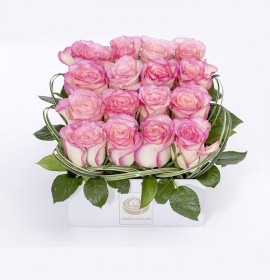 BEIRUT- Pink Roses box Arrangement