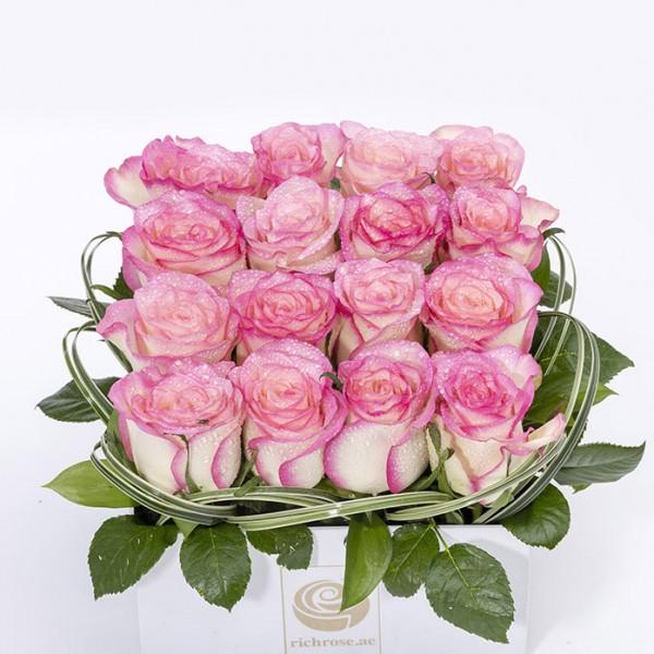BEIRUT- Pink Roses box Arrangement