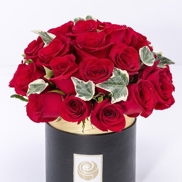 PANAMA- Ravishing Red Roses Box Arrangement