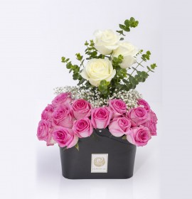 MASERU- Graceful White Roses & Pink Roses Box